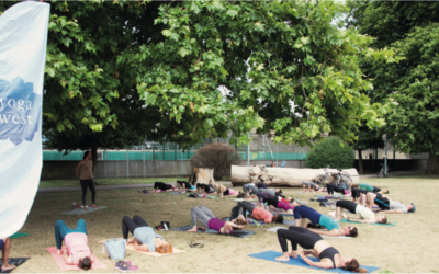 Summer party and yoga in the park Saturday July 14