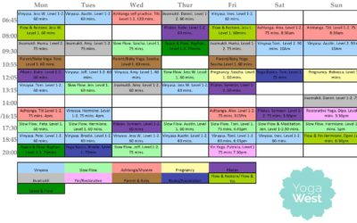 New Timetable At Yoga West From May 7 Onwards